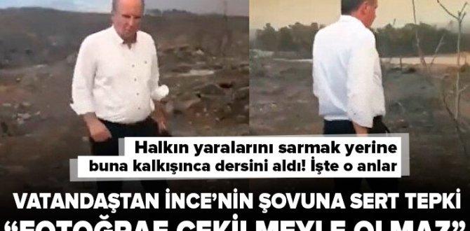Muharrem İnce'nin Antalya şovuna vatandaştan sert tepki: Fotoğraf çekilmeyle olmaz.