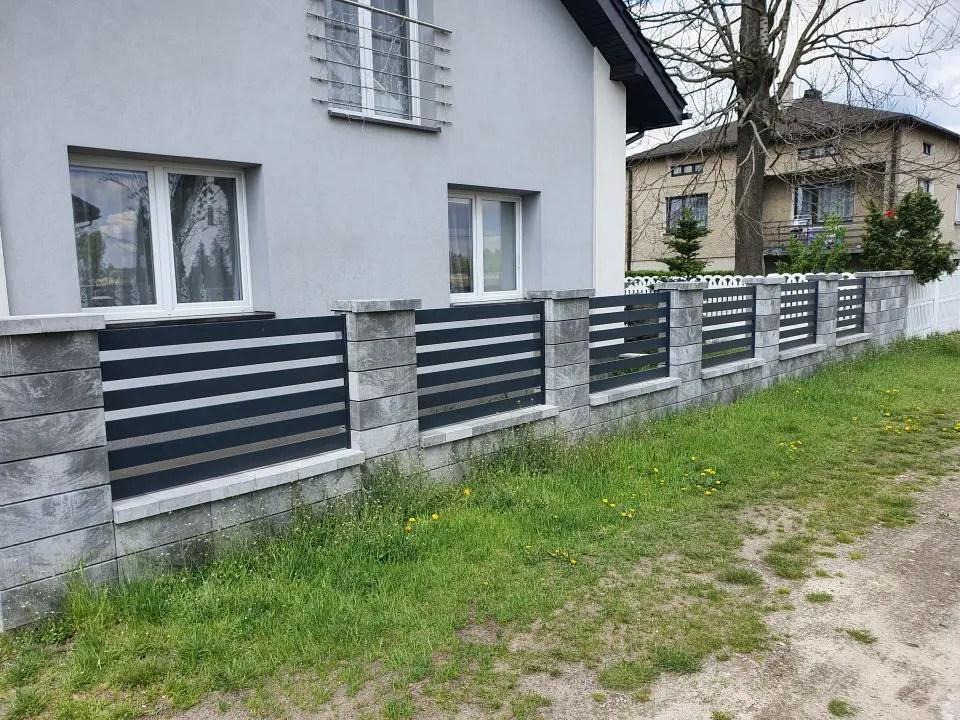 ALUgate ogrodzenie aluminiowe AG120 2