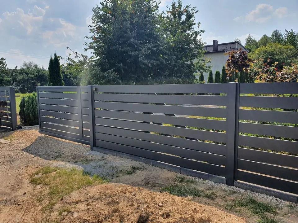 ALUgate ogrodzenie aluminiowe AG150 1