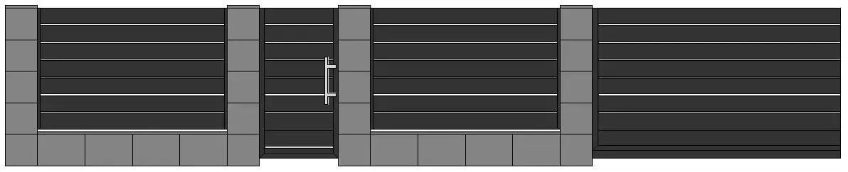 ogrodzenie aluminiowe ag200 ALUGATE BORDER