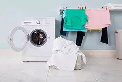 洗濯機と洗濯物