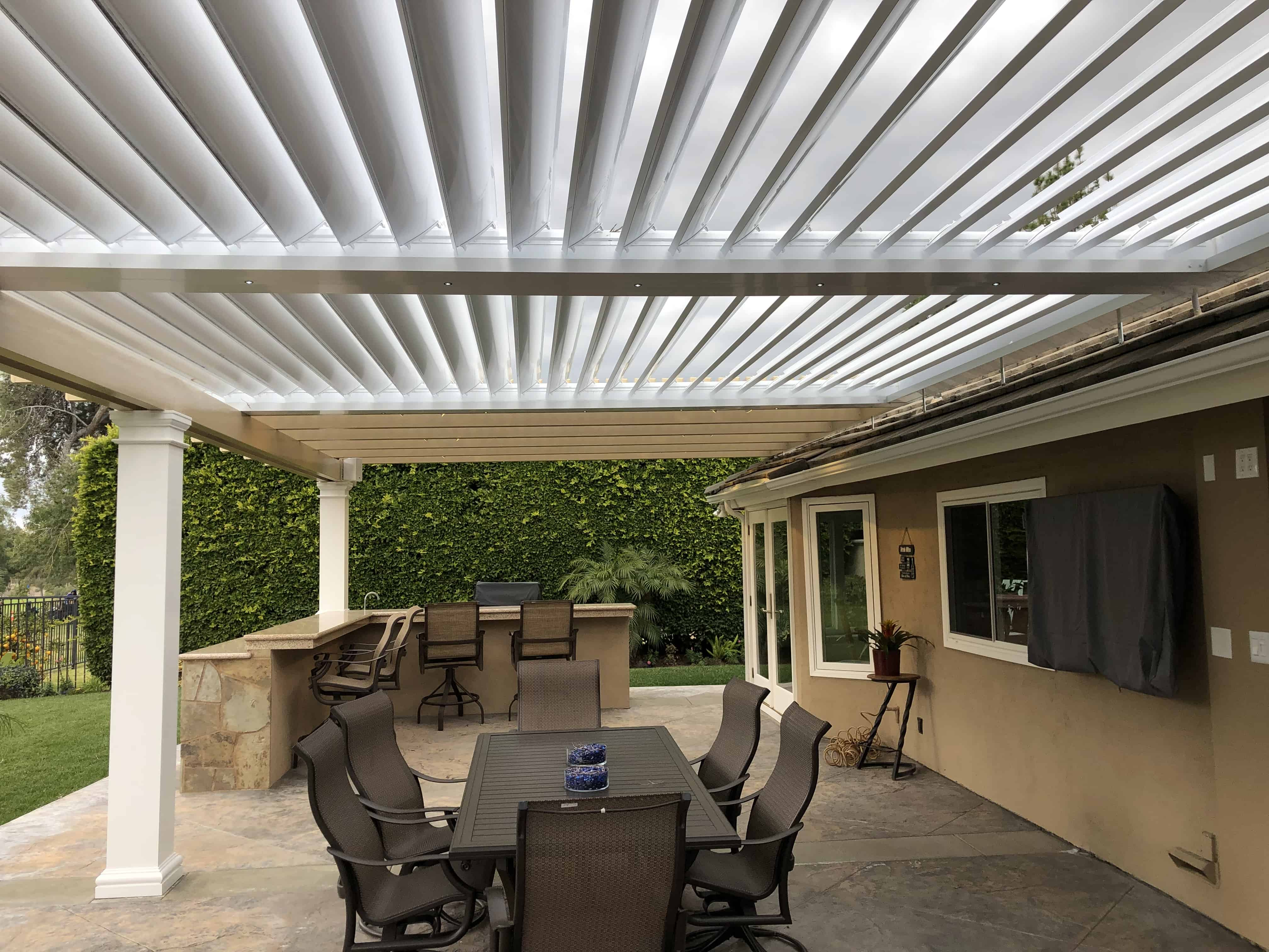 Equinox louvered & Maxxwood combination patio cover ... on Patio Cover Ideas Wood id=46208