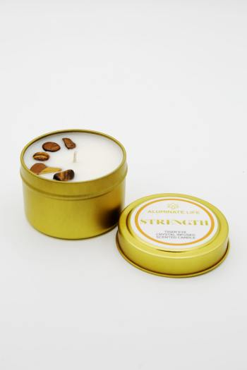 Tiger Eye Infused Strength Candle Tin 2