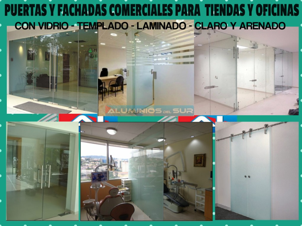 Puertas Seguridad para fachadas comerciales para tiendas y oficinas tegucigalpa