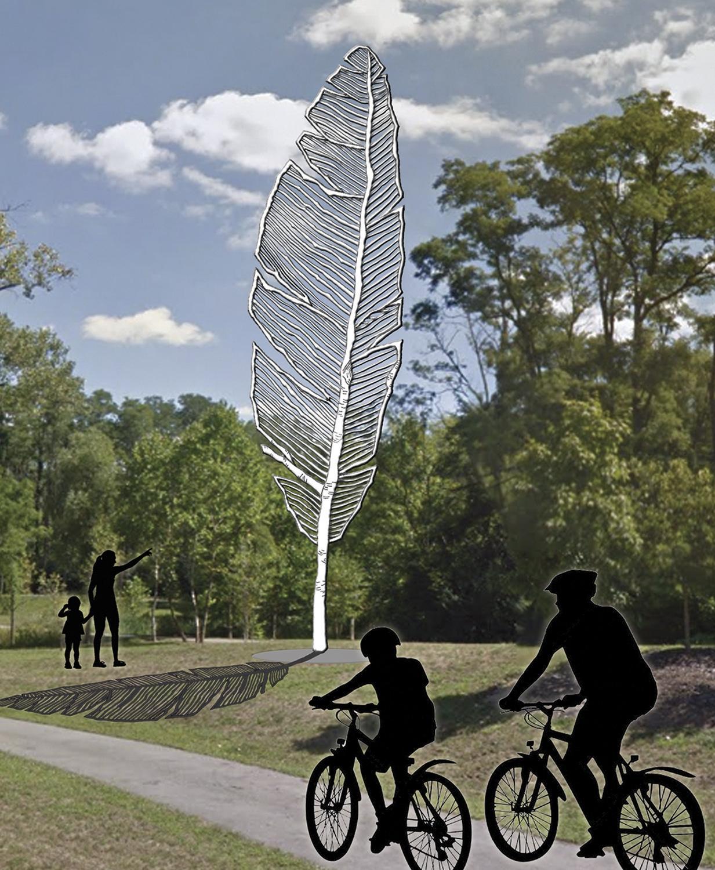 Ny aluminiumkonst i amerikansk park