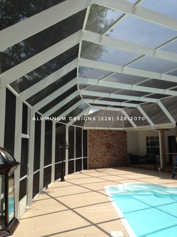 curved swimming pool enclosure