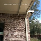 Insulated roof patio w/ gutter
