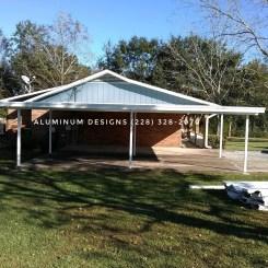 carport built by aluminum patio contractor Aluminum Designs 228-328-2070