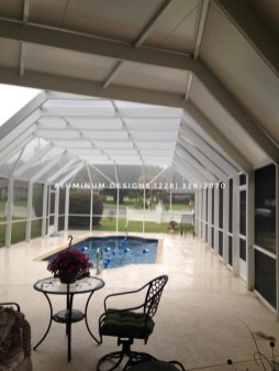insulated patio cover attached to pool enclosure
