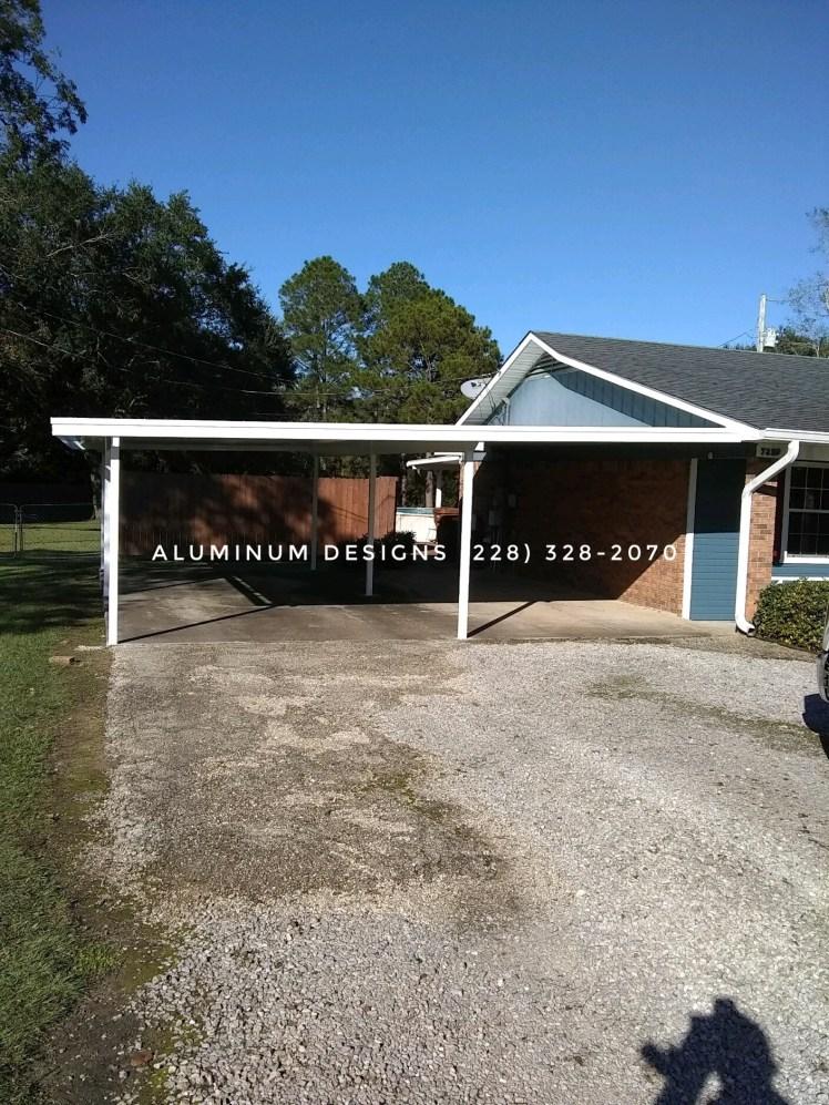 double aluminum white frame carport
