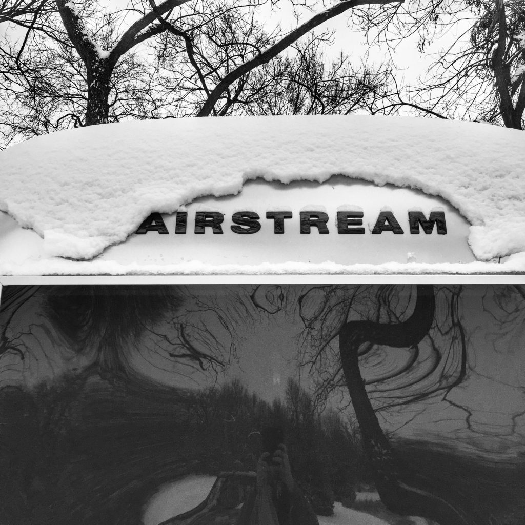 Snow on an Airstream