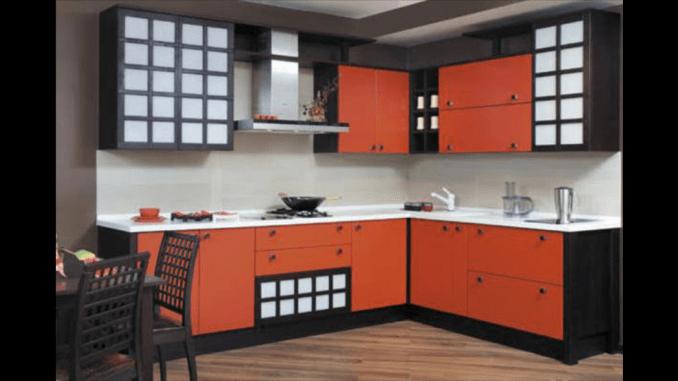 مطبخ الوميتال احمر فى اسود مودرن