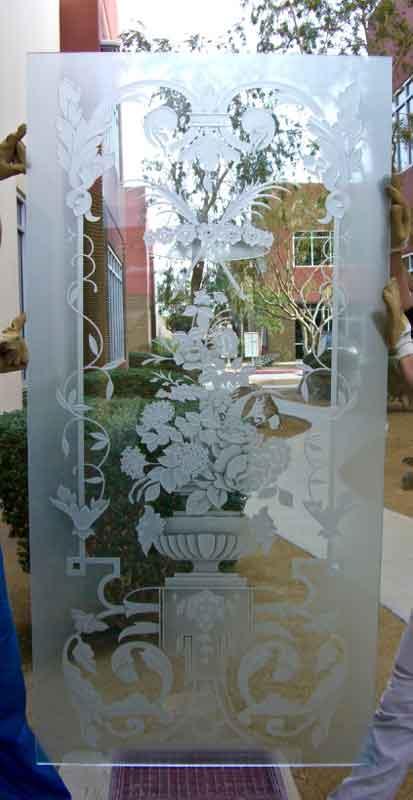 زجاج مصنفر مرسوم للابواب والشبابيك والمطابخ