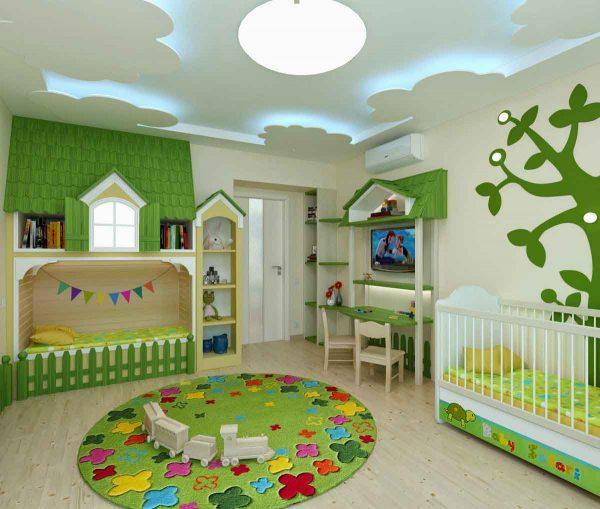 جبسون بورد 2018 غرف نوم الاطفال