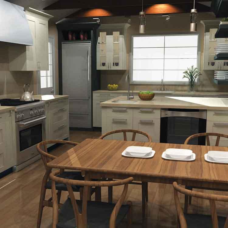 برنامج تصميم المطابخ 2020 تصميم المطبخ بوظائف3D أكثر واقعية