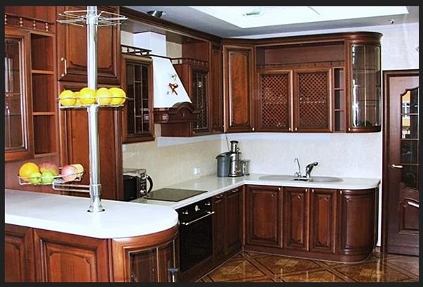 مطبخ بني محروق الوان مطابخ خشبية بافضل الوان المطابخ المودرن