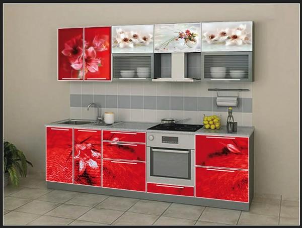الاحمر اجمل الوان المطابخ المرسومة باشكال عل درف المطبخ