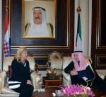 رئيسة كرواتيا في الكويت بزيارة رسمية