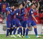 برشلونة يمزق شباك اوساسونا بسباعية ويعتلي صدارة الليغا
