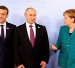 ماكرون يبحث مع بوتين وميركل وبوروشينكو سبل حل أزمة أوكرانيا