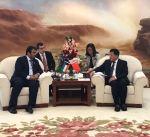 الوزير الروضان يبحث مع بنك التنمية الصيني سبل التعاون
