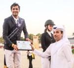 الفارس الخرافي يحرز المركز الأول في منافسات بطولة الريان الدولية لقفز الحواجز