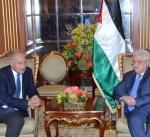 الرئيس الفلسطيني يستقبل أبوالغيط والعثيمين