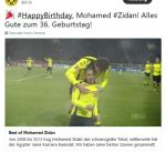 دورتموند يبعث رسالة تهنئة لزيدان في عيد ميلاده الـ 36