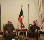 الجارالله يجتمع مع السفيرين السعودي والإيراني لدى البلاد
