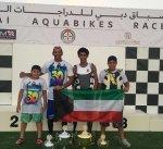 فريق الكويت للدراجات المائية يحقق اربعة كؤوس في بطولة الإمارات