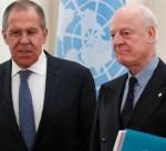محادثات بين لافروف ودي ميستورا في موسكو غداً