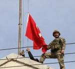 رفع العلم التركي على مدينة عفرين