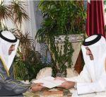 مبعوث سمو أمير البلاد يسلم رسالة خطية الى أمير قطر