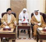 رئيس مجلس الأمة يستقبل رئيس التحالف الوطني العراقي