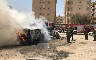 """""""الإطفاء"""": اخماد حريق 3 مركبات في ساحة ترابية بـ""""خيطان"""""""