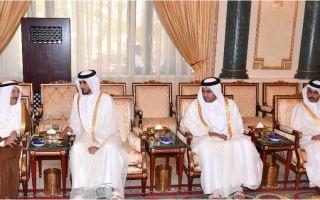 سمو الأمير يستقبل الممثل الشخصي لأمير قطر والوفد المرافق له لتقديم واجب العزاء بوفاة الشيخة فريحة