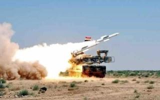 المضادات الجوية السورية تسقط عدد من الصواريخ استهدفت مؤسسة الصناعات التقنية في اللاذقية