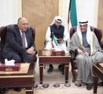 الغانم يستقبل وزير الخارجية المصري