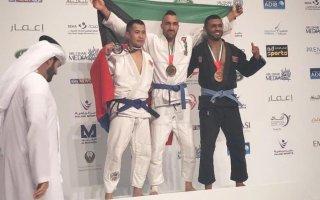 البطل الكويتي بوشهري يحقق الميدالية الذهبية في بطولة أبوظبي الدولية لمحترفي الجوجيتسو 2019