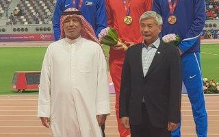 يعقوب اليوحة يحرز الميدالية الفضية في سباق 110 بالبطولة الآسيوية لألعاب القوى