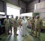 وزير الدفاع يتفقد قاعدة محمد الأحمد البحرية وقوة واجب صباح