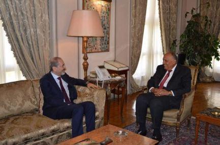 وزيرا خارجية مصر والأردن يبحثان القضايا الاقليمية محل الاهتمام المشترك
