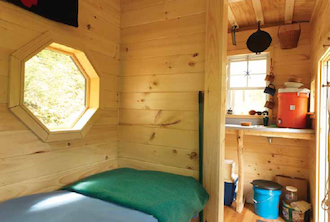 Mary C. Murphy '05 with her tiny house (interior)