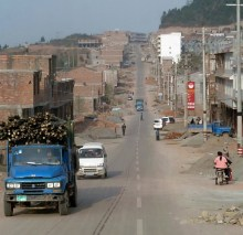 Paved road in China