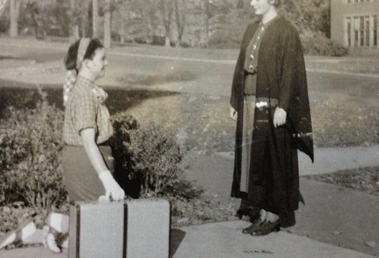 Senior hazing a freshman, 1936