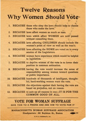 Why Women Should Vote: Mount Holyoke Memories