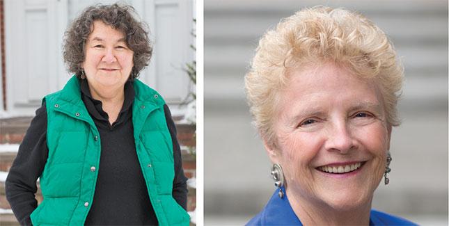 Judith Kurland (left) and Judith Lonnquist