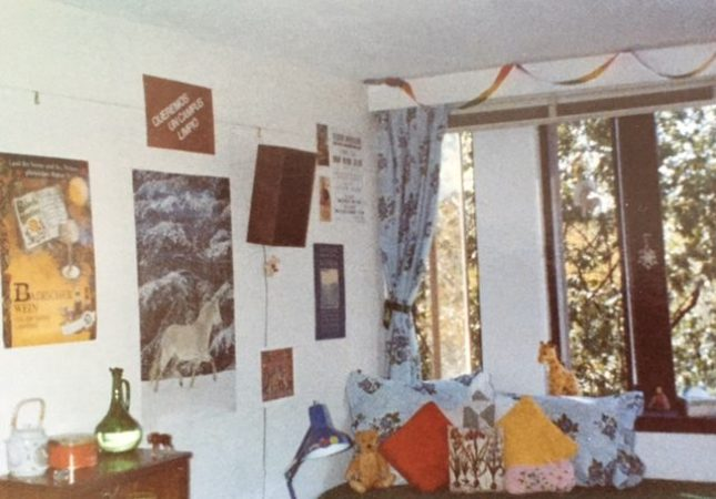 1837 1981: Single room on the top floor. Note the stereo speaker hanging on the wall and the absence of a laptop or personal computer of any kind. Submitted by Jody Phillips-Clark '82.