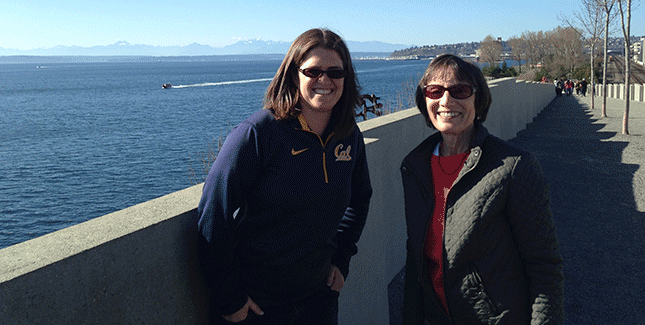 Jenny Simon-O'Neill '02 (left) and Margaret (Meg) Conkey '65 (right)