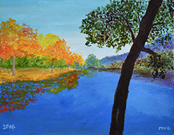 Painting of Upper Lake by Meg Barstow '42